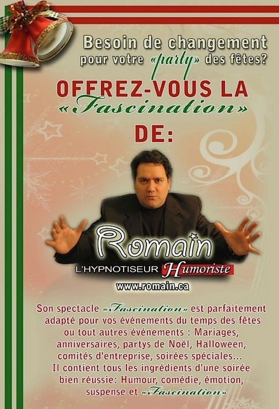 le spectacle fascination de Romain l'hypnotiseur humoriste
